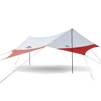Denna tarp från NatureHike är ett kvalitativt regnskydd för exempelvis en familjepicknick eller som ett solskydd för en dag vid stranden.