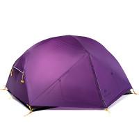 Naturehike Mongar ultrakevyt 2 hengen teltta on tyylikäs ja sitä on mahdollista jatkaa erillisellä osalla, jossa majoitat koiran tai säilytät rinkkaa.