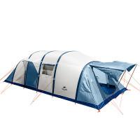 XXL-kokoinen teltta majoittaa 8-10 ihmistä ja siinä on 3 ovea, 4 makuuhuonetta & iso olohuone! Teltassa ei ole telttakaaria, vaan se täytetään ilmalla, tutustu!