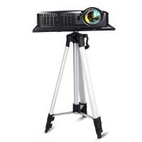 Lattiateline projektorille on helppo valinta, mikäli et halua porata reikiä seiniin tai kattoon. Kätevä teleskooppinen kolmijalka ja sisäänrakennettu vatupassi.
