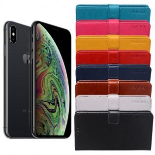 Apple iPhone XS flip cover -suojakuori - Turkoosi