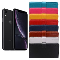 Halpa flip cover -suojakuori Apple iPhone XR -mallin älypuhelimeen, jotta puhelimesi kestää helposti seuraavan mallin julkaisuun asti. Monta värivaihtoehtoa.