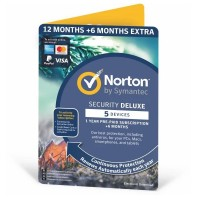Paras ja palkittu tietoturvaohjelmisto Norton Security Deluxe 18 kuukaudeksi 5 eri laitteelle. Suojaa tietokoneesi lisäksi myös älypuhelimet ja tabletit.