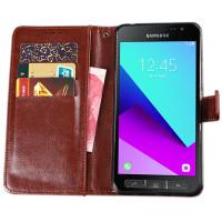Samsung Galaxy Xcover 4 flip cover suojakotelo pitää puhelimen ehjänä. Flip cover suojakotelossa kulkee mukana kortit ja setelit. Toimii myös telineenä.