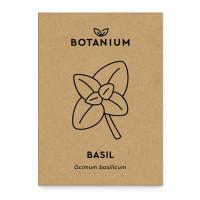 Botanium Basilika är en söt sort som snabbt växer till en frodig planta. Färsk basilika är hörnstenen i det italienska köket och passar till en mängd maträtter.