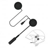 Edullinen Bluetooth Handsfree kypäräpuhelin on helppo keino yhdistää puhelin kypärääsi. Litteät kuulokkeet kiinnitetään kypärän pehmusteisiin tarranauhapaloilla.