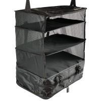 Stow-n-Go on matkailijalle täydellinen vaatekaappi, joka menee kompaktisti laukkuun ja hotellilla sen voi ripustaa vaatehyllyksi. Helppo ja käytännöllinen!