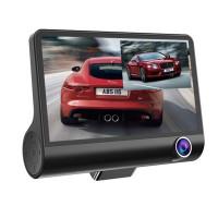 Bilkamerasystem med 3 kameror. Inkluderar en IPS-skärm för att hjälpa till att övervaka händelser inne i bilen. Du har även backkamera och en frontkamera / dashcam.