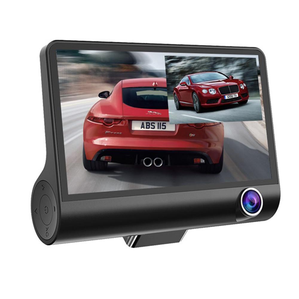 Blackbox FHD-bilkamera + backkamera med 4″-display
