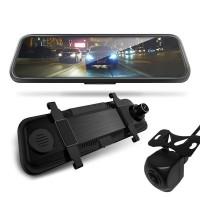 Blackbox X DVR är en backspegel, backkamera och dashcam på samma gång.Stor skarp 9,7-tums skärm. Perfekt för din bil!