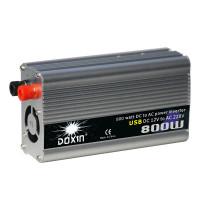 Invertteri 800W jatkuvalla tehokestolla. Hyvä lisävaruste esimerkiksi autoon tai veneeseen, mikäli tarvitset vaihtovirtaa sähkölaitteillesi kodin ulkopuolella.