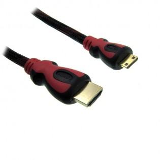 Mini HDMI-HDMI kaapeli 1.5m - 1.5m