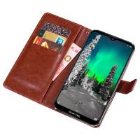 Flip cover för Oukitel K12 smartphone med utmärkta kort- och sedelfickor för mångsidig användning. Snyggt designat och tillverkat av konstläder.