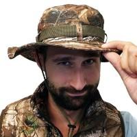 Taktiskt kamouflerad hatt som ger ett utmärkt skydd mot solen. Den här hatten är perfekt för din fiskeresa, eller en varm dag i solen när du är ute och vandrar i naturen.