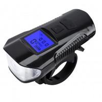Turvallisuutta pyörälenkkeihin akullisella pyörän LED-valolla, jossa myös nopeusmittari ja soittokello samassa paketissa. Täysin veden- ja pakkasenkestävä!