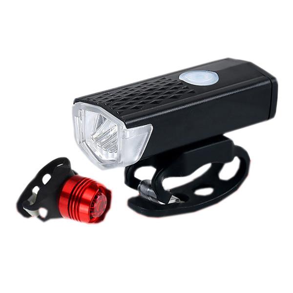 Uppladdningsbar cykellampa + baklampa