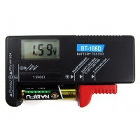 Testa batteriets spänning på en riktig testare. Lämplig för AA / AAA / / C / D och 9V modeller batteri.