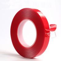 Virkelig stærk dobbeltsidet klart akryl bånd på 10 m. Vælg en bredde på mellem 10 - 50 mm. Virkelig prisvenligt bånd, som kan bruges til mange ting.