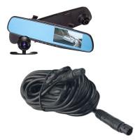 4 meter förlängningskabel för den super populära Blackbox DVR bakspegel så att även ägaren till en husbil eller skåpbil kan njuta av denna backkamera.