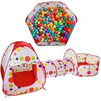 Lasten pallomeriteltta tunnelilla varustettuna! Lasten leikkiteltta on monipuolinen ja on siinä leikkialue pallomerta varten sekä kori, johon lapsi voi harjoitella ensimmäisiä heittoja. Lasten teltta käy sisälle tai ulos leikkikäyttöön. Helppo koota ja kasata - menee pieneen tilaan mukana tulevaan kantokassiin.
