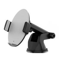 Qios trådlösa laddstativ är en praktiskt och lättanvänd trådlös laddare till din telefon. Fästs enkelt med sugkoppfäste och håller telefonen på plats.