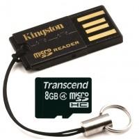 Kätevän pieni MicroSD-kortinlukija kulkee helposti mukana avainnipussasi.