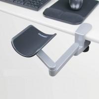 Kyynärtuki työpöytään on kaksinivelinen auttaja, jonka avulla löydät itsellesi sopivan ergonomisen työskentelyasennon. Sopii myös näppäimistötyöskentelyyn.