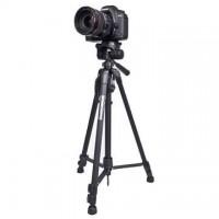 Behändigt stativ för all slags fotografering. Fungerar för fotografering lika bra som för inspelning av film. Justerbar höjd från 57-140cm.