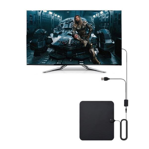 Platt HD TV-antenn med förstärkare