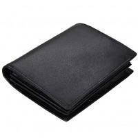 RFID-läderplånbok skyddar ditt kreditkort från extern skanning. RFID-plånboken är tillverkad av äkta kohud. Välj färg mellan svart och brun.