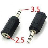 Ostitko kuulokkeet joiden liitinpää on liian pieni ja et voit käyttää niitä tietokoneesi kanssa? 2.5mm adapterin avulla saat muutettua 2.5mm liitinpään 3.5mm!