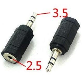 2.5mm - 3.5mm adapteri