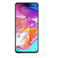 Panssarilasi Samsung Galaxy A70 puhelimen näytölle. Tämä näytönsuoja pitää puhelimen näytön suojattuna ja on helppo tarpeen vaatiessa myös vaihtaa uuteen.