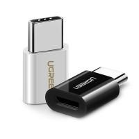 Med Ugreen Type-C / Micro-USB-adapter ansluter du bekvämt din Micro-USB-kabel till en surfplatta eller smartphone med en USB Type-C-port.