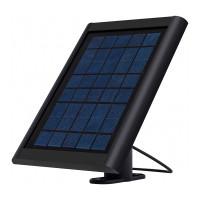 Aurinkopaneeli valvontakameran tai puhelimen lataamiseen. Paneelissa 3m kaapeli Micro-USB liittimellä. Säänkestävä yksikidepiikenno.