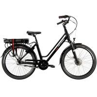 Devron City sähköpyörä. Tämä sähköavusteinen polkupyörä on suunniteltu erityisesti kaupunkiin ja sillä sujuvat päivittäiset matkat leppoisasti myös ylämäissä.