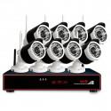 8 x Langaton FullHD kamera ja verkkotallennin