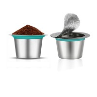 Reusable stainless steel capsule for nespresso