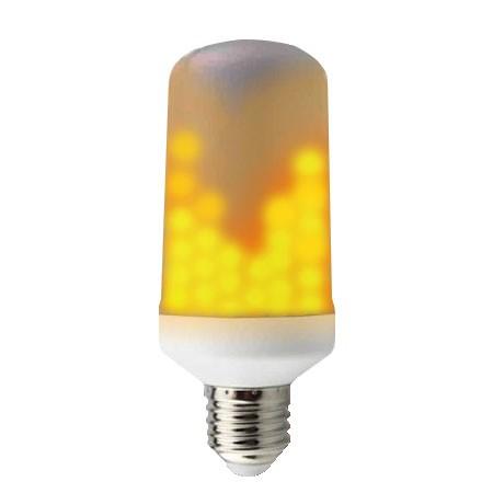 Tvåsidig LED-lampa med flammande låga E14/E27