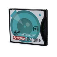 Tämä näppärä adapteri muuntaa SD tai SDHC-korttisi helposti CF-kortiksi. CF-korttipaikat ovat usein myös nopeampia kuin SD-korttipaikat, jolloin saat nopeammasta SD-kortista kaiken irti.