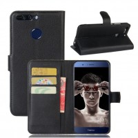 Honor 8 Pro flipcover skyddar din smartphone mot skråmor och mindre stötar. På insidan av skyddet finner du en korthållare för dina 3 viktigaste kort.