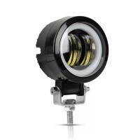 Laadukas LED-lisävalo autoon. Tässä työvalossa on 20W teho ja tyylikäs LED-rengas viimeistelee siistin modernin ulkoasun. Jopa 30 000 tunnin elinikä.