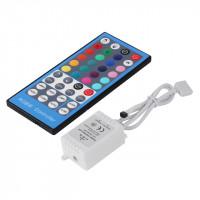 LED-valonauhan infrapunalla toimiva etäohjaussetti, johon kuuluu RGBW- valo-ohjain ja -kaukosäädin. Setistä löytyy staattiset värit ja valo-ohjelmat.