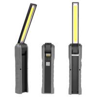 COB-LED työvalo akulla, minkä voit sijoittaa miten vain ja kohdistaa haluttuun suuntaan! COB-valo kääntyy 270°, ja sen perässä on magneetti sekä ripustuskoukku.