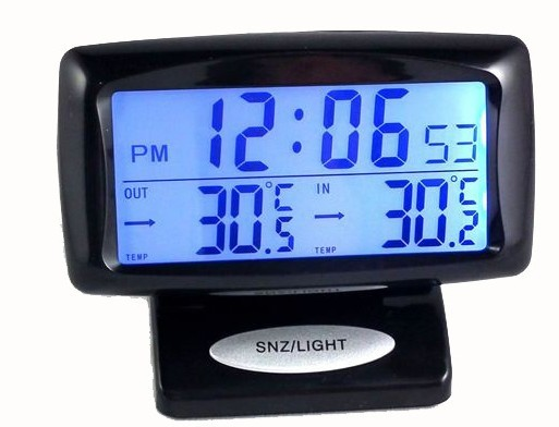 Kello lämpömittari LED