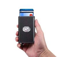 RFID-suojattu pop-up-korttikotelo on todella kompakti ja edullinen korttilompakko. Tyylikäs kangaspintainen pop-up-kotelo ei luista näpeistä ja vetää 6 korttia.