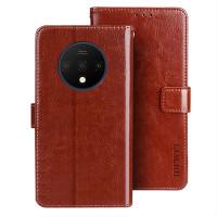 Pidä Oneplus 7T puhelimesi turvassa avainten ja kolikoiden aiheuttamilta naarmuilta tällä hieno flip cover mallisella lompakkosuojakuorella.