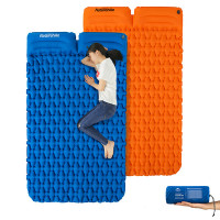 Naturehike Couple Diamond Thick Inflatable Mat With Pillow