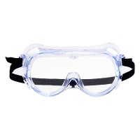 Naamiomalliset suojalasit silmien suojaksi. Nämä suojalasit on tehty estämään suoria roiskeita silmille.