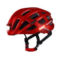 Smart och snygg cykelhjälm med integrerad lampa och varselljus. Skydda huvudet med en RockBros cykelhjälm och maximera din synlighet i mörker.